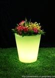 花园装饰 公园装饰 滚塑LED花盆 发光花盆 七彩变色可充电