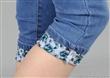 新款翻边修身牛仔七分裤女夏韩版薄女装中腰七分牛仔短裤显瘦女裤