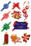 圣诞节装饰彩带礼品花星星花橄榄球包装纸节日装饰用品