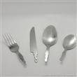 专业生产PP塑料手柄西式餐具cutlery set 不锈钢刀叉勺(匙)