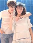 夏季新款情侣装,韩版短袖情侣夏装t恤