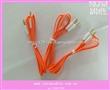 厂家供应面条线 扁线音频线 3.5mm对dc3.5MM