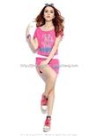2014夏季韩版时尚女士运动套装三件套
