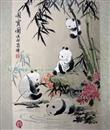 供应【典雅】蜀锦*熊猫国宝图