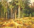 欧式别墅装饰画 密林小溪