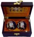 保定特产 保定寿星铁球 祝寿 高档木盒寿星老景泰蓝保健球王铁匠