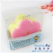 双色花水晶海绵皂