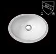 厂家直销美国UPC认证陶瓷台下盆/洗手盆