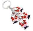 天爱五金饰品供应圣诞礼品圣诞老人合金钥匙扣