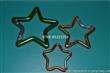厂家供应五角星型登山扣 氧化彩色多功能弹簧扣