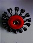 供应汉龙杆平型扭丝轮,扭丝刷,钢丝轮