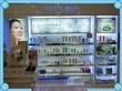 化妆品店专柜设计效果图/广州化妆品展示柜定做