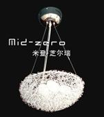 厂家直供 餐厅灯  现代铝线鸟巢吊灯