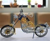 全球首发 供应纯手工铝铁丝批量制作  经典哈雷天使摩托模型