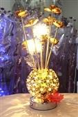 时尚现代装饰低压花瓶台灯客厅卧室摆地摊创意人工编织铝线