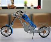 火爆外贸出口 纯手工铝质缠绕编织 哈雷摩托车模型 时尚工艺礼品