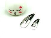 A006 DIY 5cm 水滴夹头饰配件材料 BB夹 金属发夹 儿童方夹