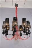 多头多色时尚现代家居 酒店工程吊灯|中山厂家批发铝线LED灯饰