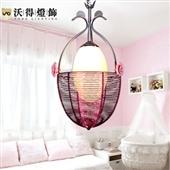 个性创意吊灯餐厅卧室阳台鸟巢灯天鹅灯现代简约温馨田园铝质2309
