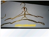 服装店专用铝合金双线衣架加粗 加粗金色挂衣架 防滑型金色 裤夹
