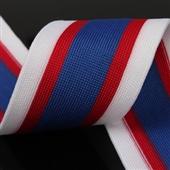 QS 5.2cm 间色夹色涤纶针织带 全顺织带厂家直销定制加工批发
