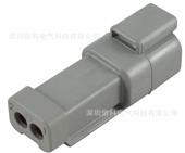 连接器-DEUTSCH德驰汽车连接器 DT04-2P-CE01 公插座带后盖 2...