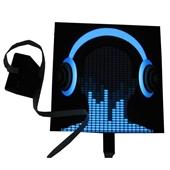 EL冷光片-2014新款创意潮流T恤 蓝绿光动感短袖 EL冷光片动感音乐 厂家批...