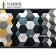 佛山瓷砖 仿古陶瓷手绘花砖 西班牙几何拼花200x230mm原边六角砖