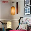 竹木新中式日式壁灯灯罩田园乡村灯具东南亚客厅卧室茶楼工程灯饰