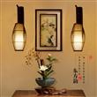新中式日式壁灯灯罩田园乡村灯具东南亚客厅卧室茶楼工程灯饰