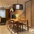 东南亚竹编吊灯新中式灯禅意灯饰创意餐厅灯具日式茶楼个性竹艺灯