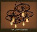 欧式简约铁艺吊灯咖啡厅餐厅客厅LED装饰 loft工业风仿古欧式吊灯