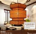 上古铁丝灯笼 手工布艺铁丝灯笼 火锅店中式民宿餐馆装饰灯笼灯具