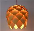 美尔灯饰原木松果吊灯 创意木艺松果灯餐厅灯具新中式吊灯批发