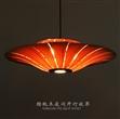 东南亚风格木艺吊灯 新中式餐厅农庄创意灯饰木皮吊灯
