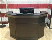 吧台-办公家具厂定做公司前台 前台办公桌 接待台 板式收银台-吧台尽在-...