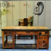 办公桌-新款 老船木大班台 办公桌 老板办公台 船木家具 厂家直销-办公桌尽在阿...