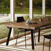 餐桌-美式乡村铁艺餐桌实木办公桌防锈复古做旧餐桌写字台工作台-餐桌尽在-...