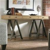桌类、茶几-loft美式乡村风格仿古做旧实木书桌复古办公桌工作写字台-桌类、茶几...