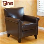 沙发类-美式皮沙发皮艺/单人位/个性复古高档沙发 接待洽谈 棕色-沙发类尽在阿里...