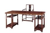 办公家具_批发零售 明式书桌画案 书房 桌子 红木家具 金古红木 -
