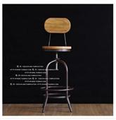 酒吧椅-美式复古铁艺吧台椅 实木做旧铁艺吧台椅 高脚旋转升降椅酒吧椅-酒吧椅尽在...