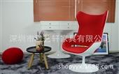 其他椅、凳、榻-Evolution Armchair蛋壳椅玻璃钢造型椅转椅创意电...