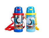 不锈钢水壶_托马斯儿童水壶 手提吸管水壶 儿童学生 360ml 背带 -