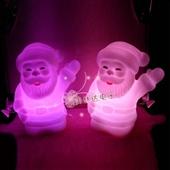 创意圣诞礼品_七彩圣诞老人小夜灯 礼品灯创意圣诞礼品 -