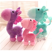 其他公仔、玩偶、娃娃-卡通神兽小马公仔 萌可爱马卡龙颜色毛绒玩具布娃娃创意 一件...