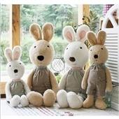 毛绒玩具-新款正版太子兔 背带裤款兔公仔 兔子毛绒玩具 圣诞节礼物-毛绒玩具尽在...