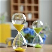 批发采购玻璃工艺品-zakka 玻璃工艺制品 沙漏计时器 创意礼品 时光沙漏 5...