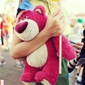 其他公仔、玩偶、娃娃-现货正版美国代购迪士尼草莓熊公仔玩具总动员草莓味中号草莓熊...