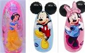 不倒翁-吉龙Jilong迪士尼米奇米妮PVC充气3D不倒翁 儿童充气卡通玩具批发...